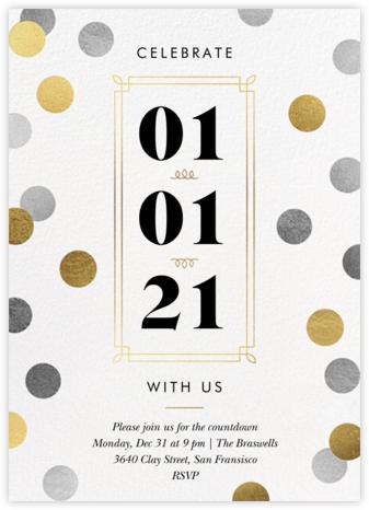 Confetti Date - White - Paperless Post -