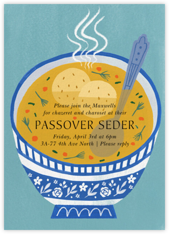 Seder Soup - Paperless Post -