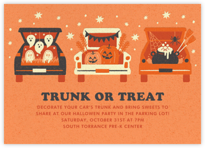 Trunk or Treat - Paperless Post - Halloween invitations