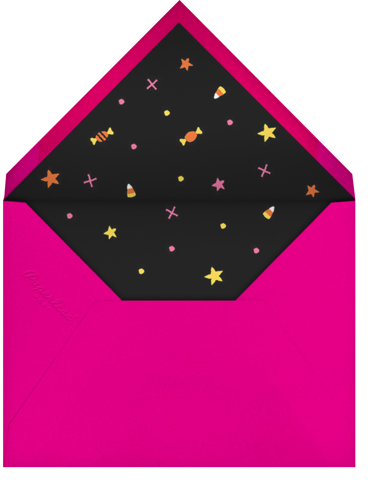 Candy Corn Magic - Paperless Post - Halloween - envelope back