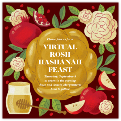 Honey and Challah - Paperless Post - Online Party Invitations