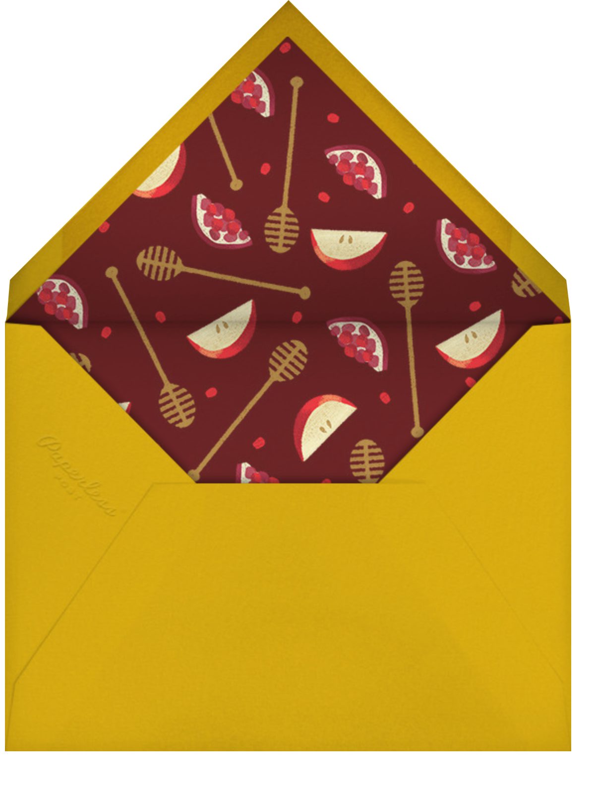 Honey and Challah - Paperless Post - Rosh Hashanah - envelope back