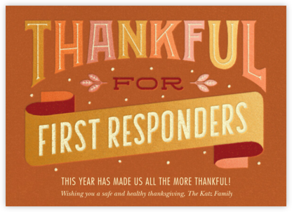 First Responders - Paperless Post - Online Thank You Cards