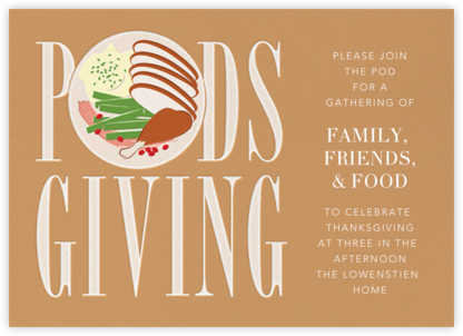 Podsgiving - Paperless Post - Thanksgiving invitations