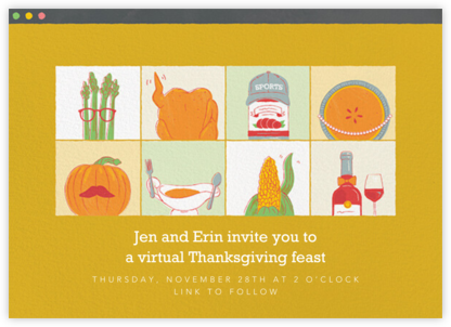 Turkey Wave - Paperless Post - Thanksgiving invitations