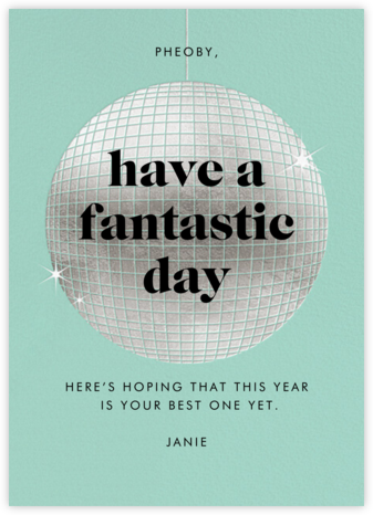 Have a Ball - Celadon - Paperless Post - Birthday