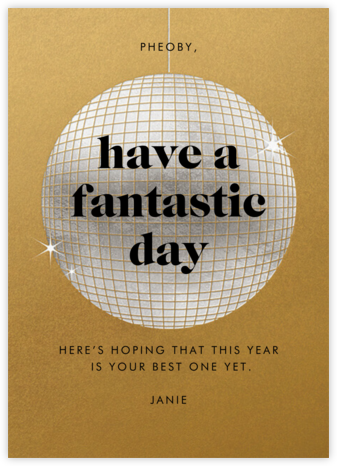 Have a Ball - Gold - Paperless Post - Birthday Cards for Her
