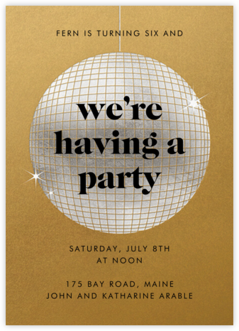 Have a Ball - Gold - Paperless Post - Online Kids' Birthday Invitations