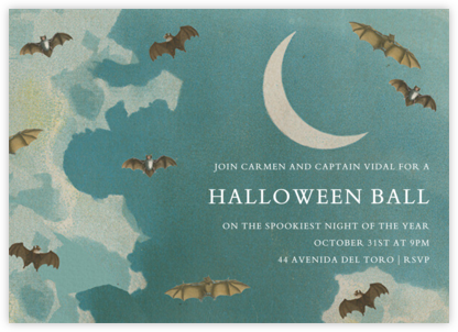 Bats Abound - John Derian - Halloween invitations