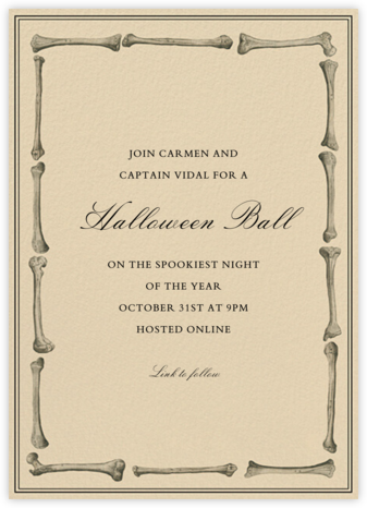 Bare Bones - John Derian - Halloween invitations