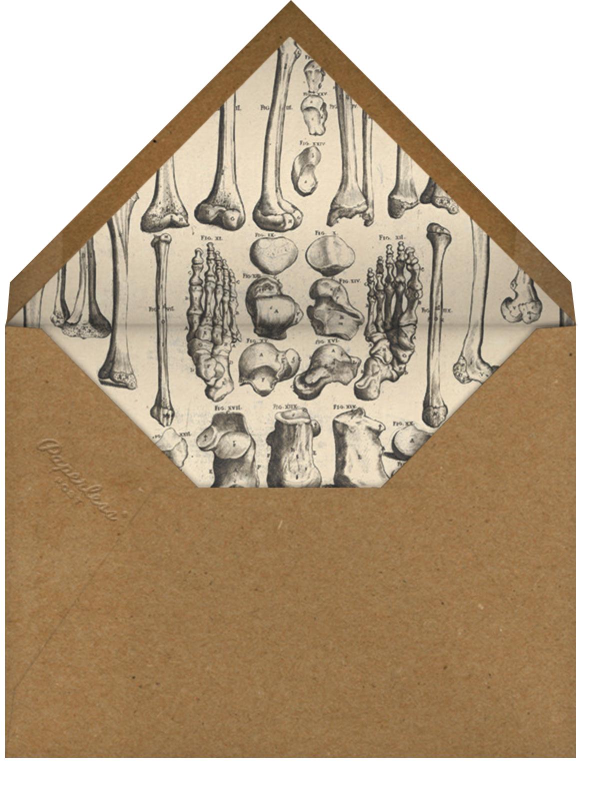 Bare Bones - John Derian - Halloween - envelope back
