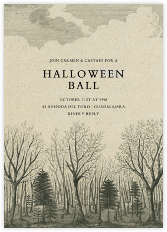 Dark Forest - John Derian - Halloween invitations