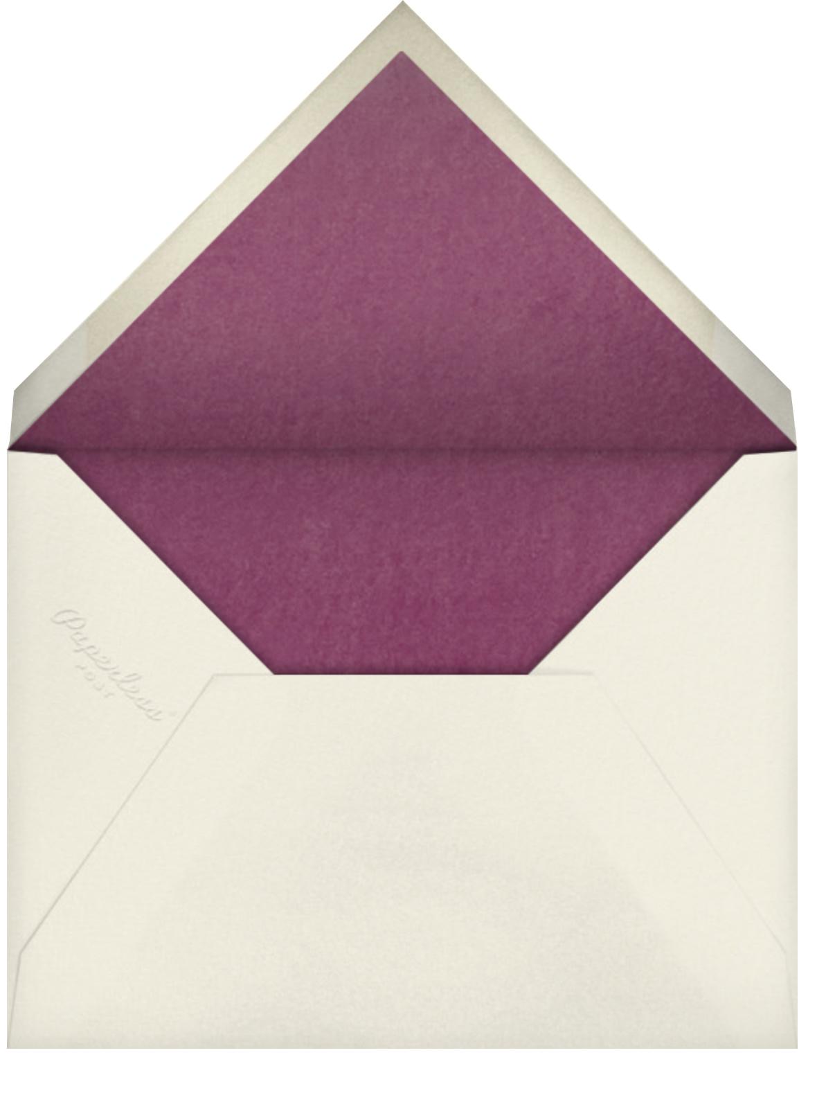 Painted Pomegranates Photo - Paperless Post - Rosh Hashanah - envelope back