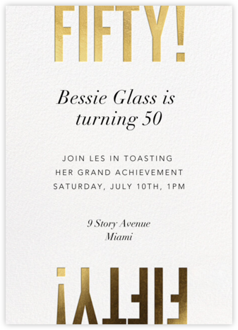 Flip the Script - 50 - Paperless Post - Milestone Birthday Invitations