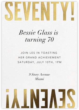 Flip the Script - 70 - Paperless Post - Birthday invitations