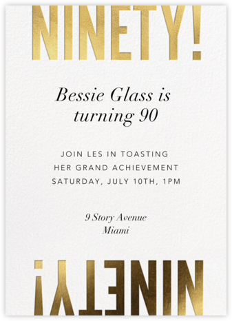 Flip the Script - 90 - Paperless Post - Adult Birthday Invitations