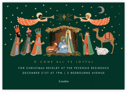 Evergreen Nativity - Rifle Paper Co. - Christmas party invitations