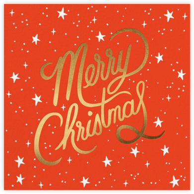 Merry Christmas Script - Rifle Paper Co. - Online Cards