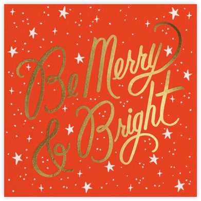 Merry and Bright Script - Flame/Gold  - Rifle Paper Co. -
