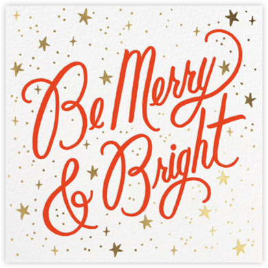 Merry and Bright Script - White - Rifle Paper Co. - Holiday Cards