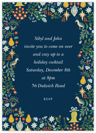 Partridge Frame - Rifle Paper Co. - Holiday invitations