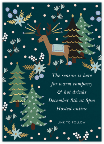 Twinkling Reindeer - Rifle Paper Co. - Virtual Parties