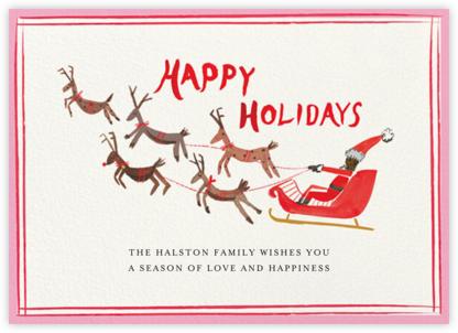 Holiday Pit Stop - Tan - Mr. Boddington's Studio - Holiday Cards