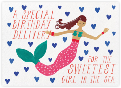 Mermaid's Birthday - Medium - Mr. Boddington's Studio - Birthday Cards for Her