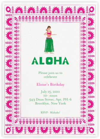 Pineapple Cake - Bright Pink/Fair - Mr. Boddington's Studio - Summer Party Invitations