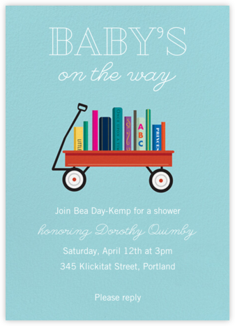 Book Shower - Caribbean - Paper Source - Baby Shower Invitations