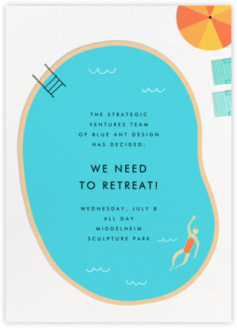 Maude's Pool - Light - Paperless Post - Casual Party Invitations