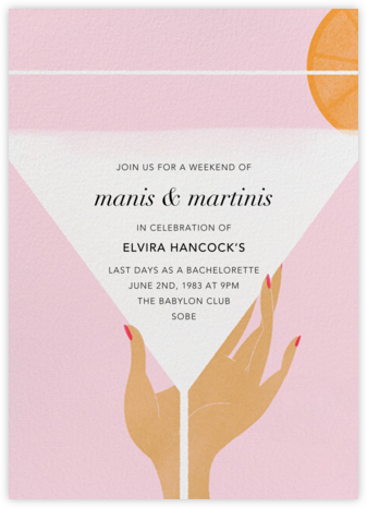 Extra Dry - Medium - Paperless Post - Bachelorette party invitations