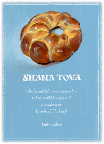 Challah - Paperless Post - Rosh Hashana Invitations