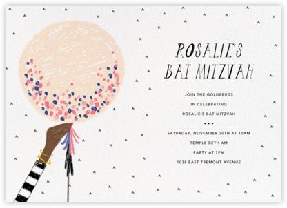 Ready to Burst - Pavlova/Tan - Mr. Boddington's Studio - Bar and Bat Mitzvah Invitations