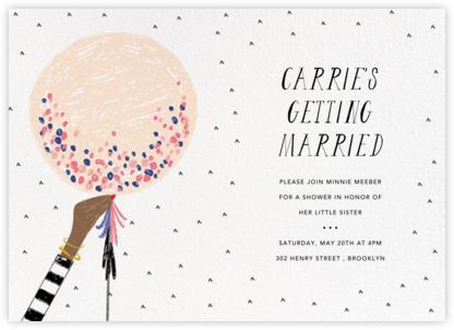Ready to Burst - Pavlova/Tan - Mr. Boddington's Studio - Bridal shower invitations