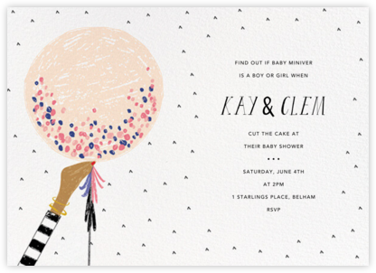 Ready to Burst - Bellini/Medium - Mr. Boddington's Studio - Baby Shower Invitations