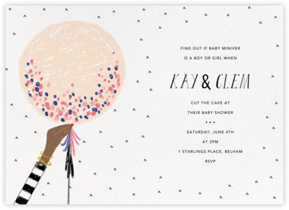 Ready to Burst - Bellini/Tan - Mr. Boddington's Studio - Baby Shower Invitations