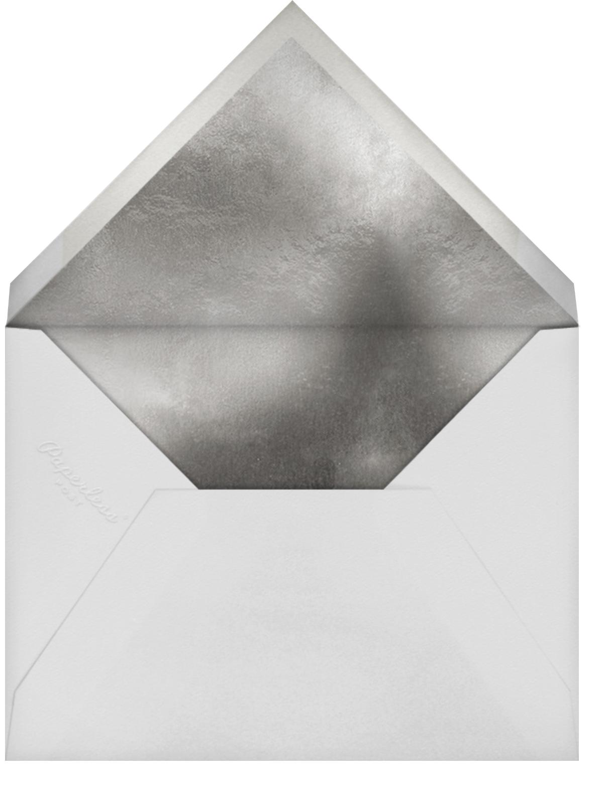 Sky Glitter - White - kate spade new york - Christmas party - envelope back