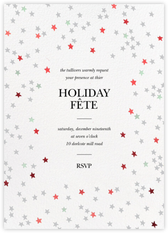 Sky Glitter - White - kate spade new york - Holiday invitations