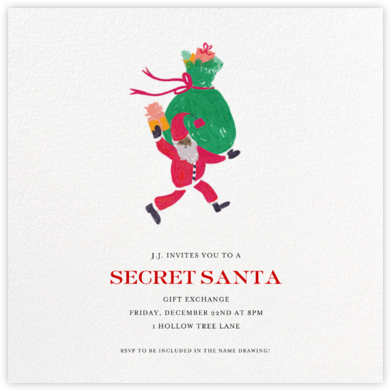 Santa Says Hello (Square) - Tan - Mr. Boddington's Studio -