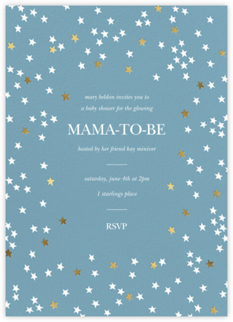 Sky Glitter - Spring Rain - kate spade new york - Baby Shower Invitations