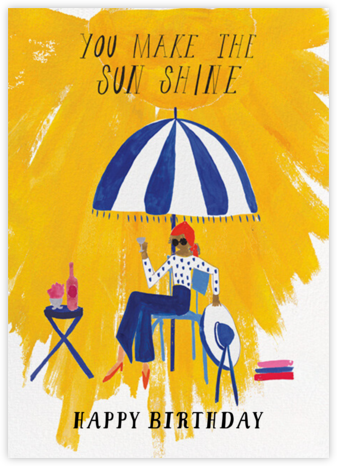 Sunshine - Tan - Mr. Boddington's Studio - Birthday Cards