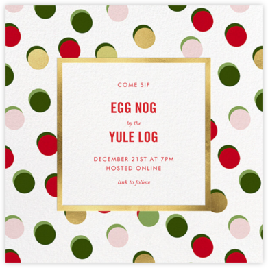 Hot Dotties - kate spade new york - Holiday invitations