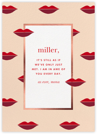 Two-Tone Lips - Bellini - kate spade new york - Valentine's Day Cards