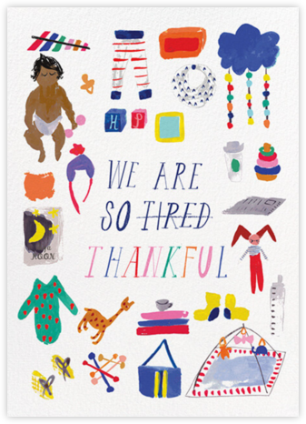 We Are So Tired - Tan - Mr. Boddington's Studio - Online Thank You Cards