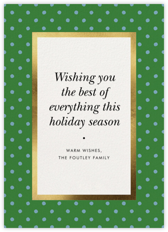 Perfect Spots - Moss - kate spade new york - Holiday Cards