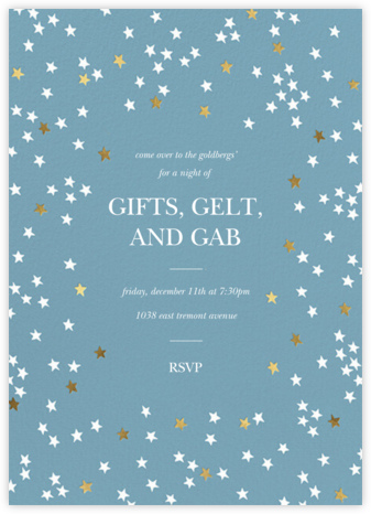 Sky Glitter - Spring Rain - kate spade new york - Hanukkah Invitations