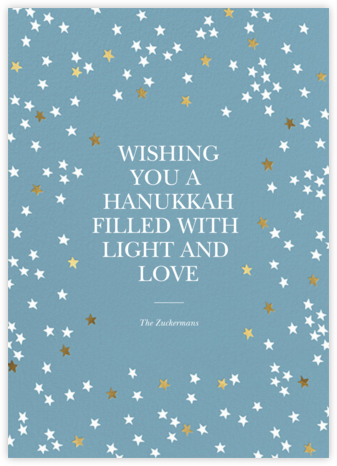 Sky Glitter - Spring Rain - kate spade new york - Hanukkah Cards