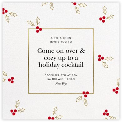Golden Berries - kate spade new york - Holiday invitations
