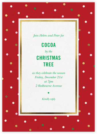 Wrapping Paper - Maraschino - kate spade new york - Christmas party invitations
